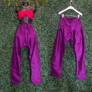 Purple Silk Harem Pants